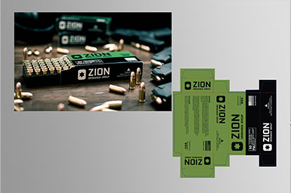 Zion Ordnance packaging
